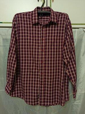 Рубашка мужская с длинным рукавом. Расцветка клетка. Классический вариант. Размер 56 58