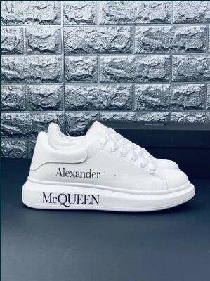 Кроссовки кеды туфли мужские Alexander McQueen Александер Маккуин Белые кросовки кросівки білі
