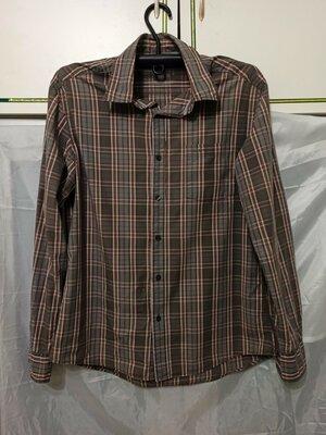 Продано: Рубашка мужская с длинным рукавом. Расцветка клетка. Классический вариант. 1 карман