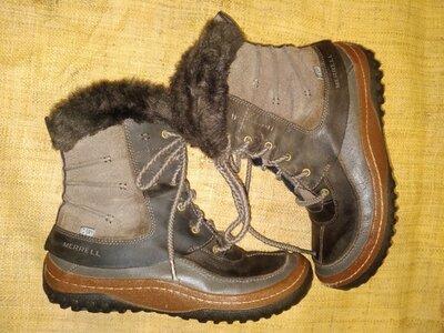 40.5-26.5 ботинки зима Merrell Dry select высота от пола 24ширина подошвы 10.5 есть дефект в виде по