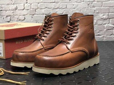 Мужские демисезонные ботинки Red Wing. Натуральная кожа. Light Brown