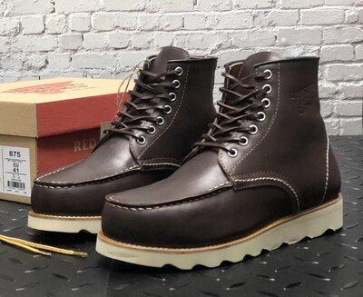 Мужские демисезонные ботинки Red Wing. Натуральная кожа. Brown