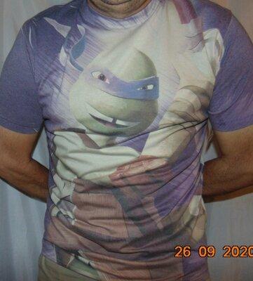 Катоновая стильная фирменная футболка Nickelodeon Никелодеон .л-хл
