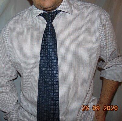 Катоновая нарядная стильная рубашка сорочка бренд Vannucci.хл .