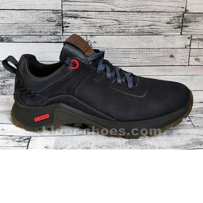 Мужские кожаные кроссовки темно-синего цвета