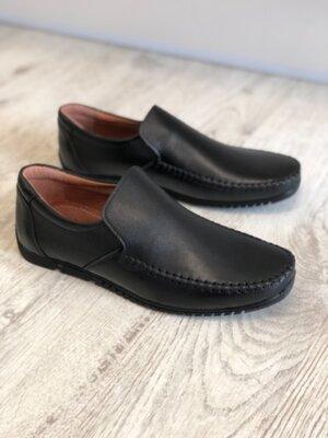 Мужские кожаные мокасины туфли