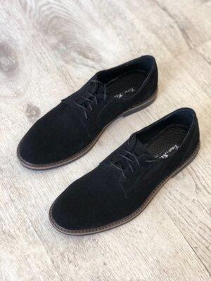 Продано: Мужские классические туфли из натуральной замши VanKristi