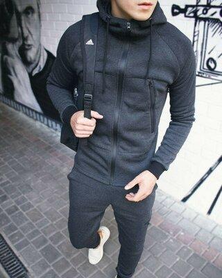 Теплый крутой спортивный костюм для мужчин молодежные демисезонный осенний штаны мастерка кофта