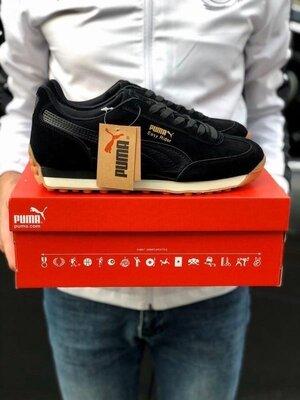 Мужские кроссовки Puma Easy Rider черные,замшевые,осенние
