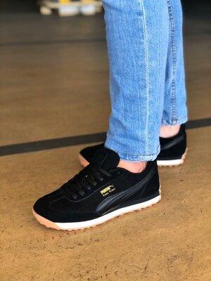 Кроссовки, топ реплика P/ma, черные и темно синие