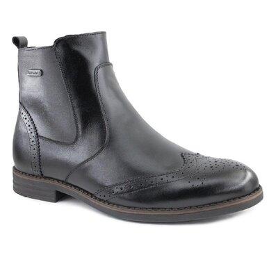 Ботинки броги зима и осень натур кожа