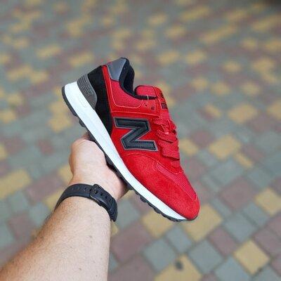 Кроссовки мужские New Balance 574, красные