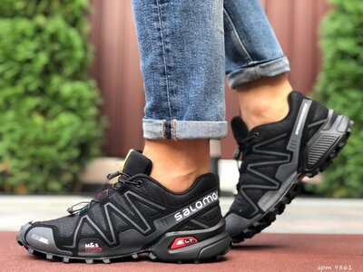 Кроссовки мужские Salomon SpeedCross 3 чёрные