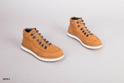 Код 8210-3 з Мужские зимние ботинки Размеры 40-45 Сезон зима Материал натуральный нубук Внутри