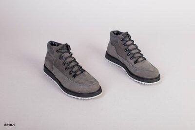 Код 8210-1 з Мужские зимние ботинки Размеры 40-45 Сезон зима Материал натуральный нубук Внутри