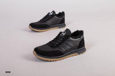 Код 8230 з Мужские зимние ботинки Размеры 40-45 Сезон зима Материал натуральная кожа замша Внут