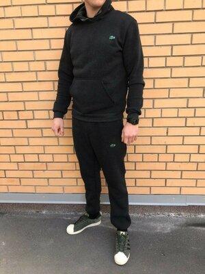 Продано: Трикотажный спортивный костюм Lacoste Черный