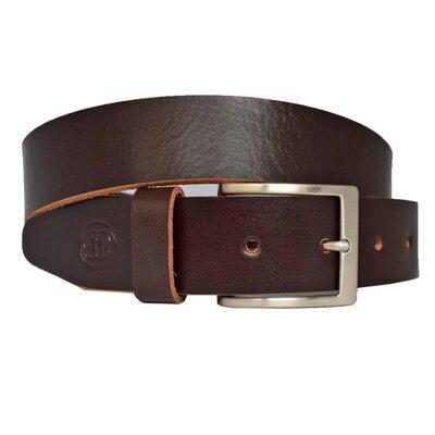 Ремень коричневый кожаный мужской под джинсы Elite