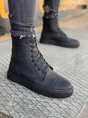 Мужские высокие кроссовки кеды берцы демисезонные осенние весенние ботинки