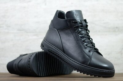 Мужские зимние кожаные ботинки Z150 чл