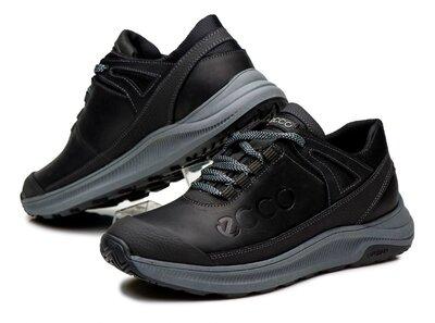 Кроссовки мужские кожаные ecco urban черные
