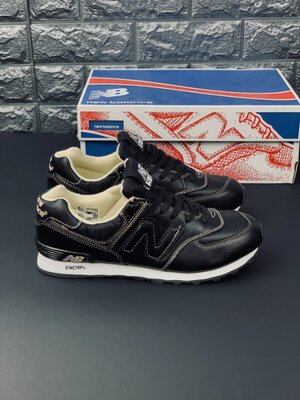 Кожаные кроссовки Нью Баланс New Balance 574 шкіряні кросівки Нью Баланс 574 Топ