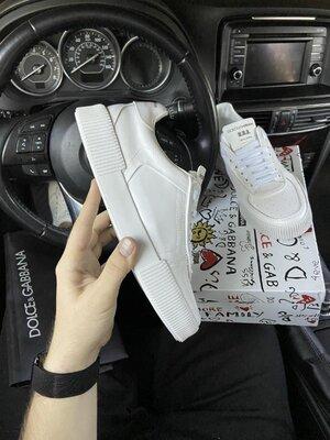 Модные мужские кроссовки D&G Miami LUX качество, белые, р. 41-45, 002-2172