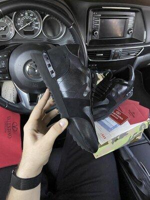 Мужские кроссовки Valentino Garavani, LUX качество, черные, р. 41-45, 002-2181