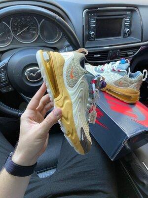 Мужские кроссовки Найк Аир Макс 270 Nike, Топ качество, бежевые, р. 36-45, 002-2180
