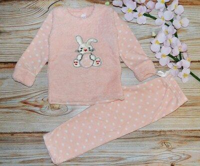 Теплая пижама на девочку махра, флис 4, 6, 8, 9 лет, отличное качество