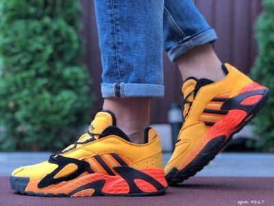 Кроссовки мужские Adidas Streetball, оранжевые