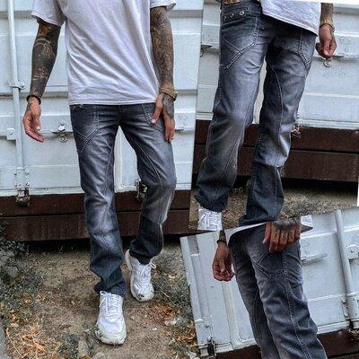 Мужские молодежные джинсы vigoocc серые. Размеры 28-34