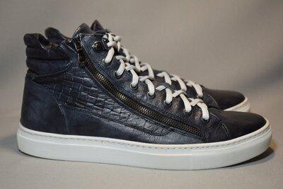 Ботинки Passo Per Passo высокие кроссовки кеды мужские кожаные. Италия. Оригинал. 41-42 р./27 см.