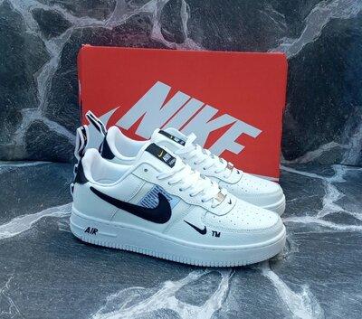 Мужские кроссовки Nike Air Force 2020 г. кожаные,белые,осенние