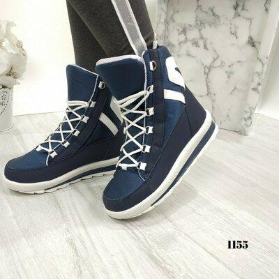 Женские зимние ботинки дутики. Зимові ботінки на шнурках