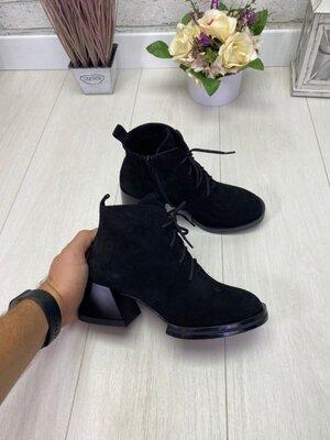Демисезонные ботинки, натуральная кожа и замш, 36-40