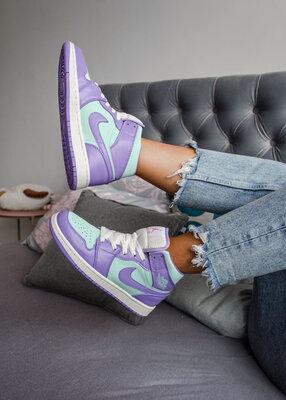 Nike Air Jordan 1 Mid Purple Aqua