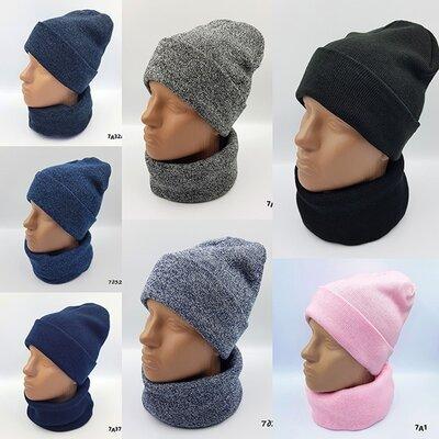 Деми наборы комплекты шапка хомут