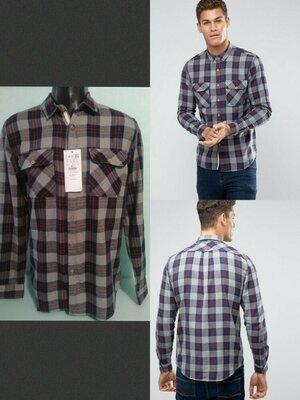 Мужская рубашка в клетку Pull&Bear p-p M