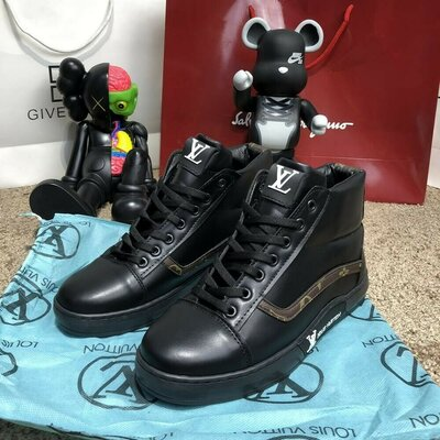 Ботинки демисезонные Louis Vuitton Oberkamf Sneakers Monogram/Black