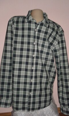 Мужская рубашка в клетку H&M р. L