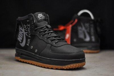 Топ качество. Кроссовки Nike OBJ Air Force Black черные 9211