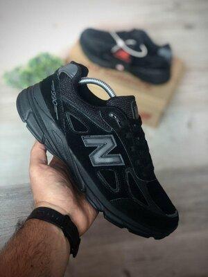 Топ качество. Кроссовки New Balance 990 Triple Black черные 9213