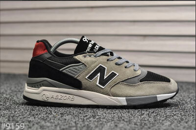 New Balance 998 Gray Red Black