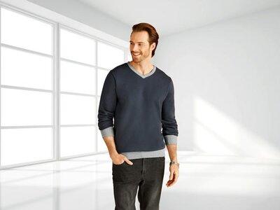 Мужской свитер толстовка на флисе