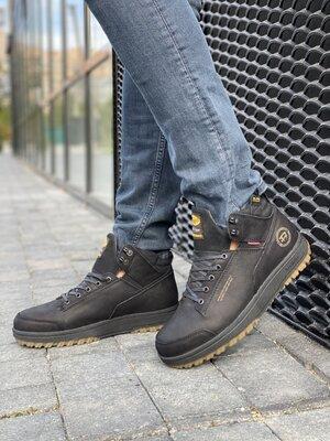 Продано: Мужские ботинки кожаные зимние черные