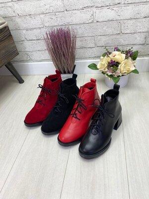 Женские зимние демисезонные ботинки на молнии много цветов