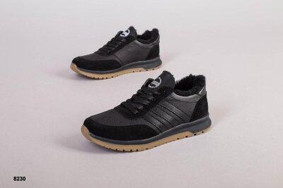 Зимние теплые кроссовки на меху кроссы ботинки спортивные удобные комфортные качественные фабричное