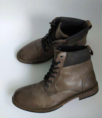 Кожаные демисезонные ботинки Topman,42 размер, Индия.