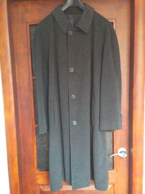 Мужское пальто hilton 85% pure new wood 15% kashmere большой размер пог-73.